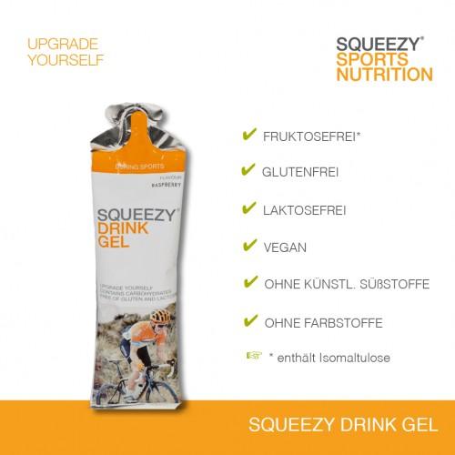 Abbildung SQUEEZY DRINK GEL Lebensmittelunverträglichkeiten
