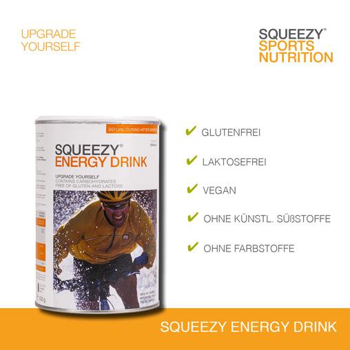 Grafik Energy Super Drink Hinweise zu Lebensmittelunverträglichkeiten