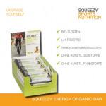 Grafik Energy Organic Bar mit Hinweisen für Lebensmittelunverträglchkeiten