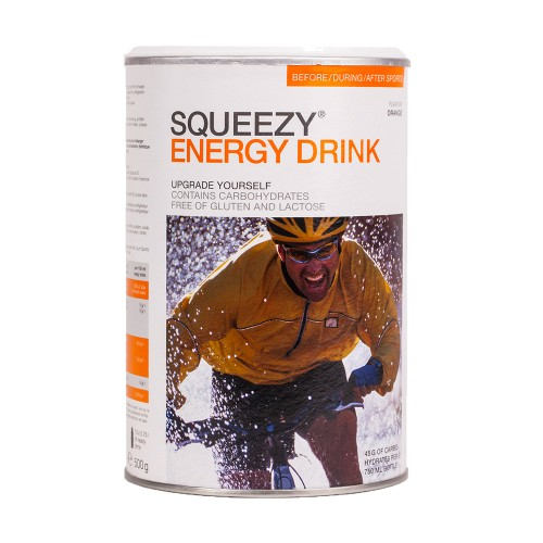 Produktabbildung: SQUEEZY ENERGY DRINK Orange 500-Gramm-Dose