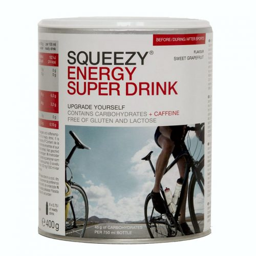SQUEEZY ENERGY SUPER DRINK Süße Grapefruit in 400-Gramm-Dose.