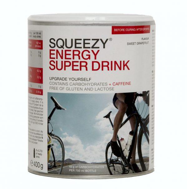 SQUEEZY ENERGY SUPER DRINK Süße Grapefruit in 400-Gramm-Dose.