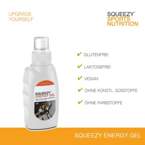 Grafik Squeezy Energy Gel frei von Laktose und Gluten