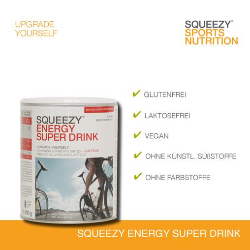 Grafik Squeezy Energy Drink und Lebensmittelunverträglichkeiten