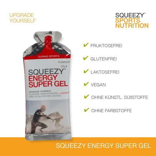Squeezy Energy Super Gel Cola mit Koffein