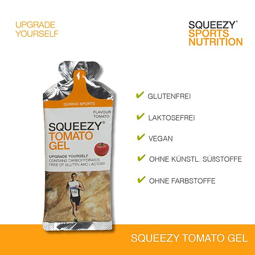 Squeezy Tomato Energy Gel für Sportler