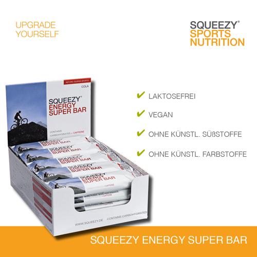 Grafik Energy Super Bar mit Hinweisen zu Lebensmittelunverträglichkeiten